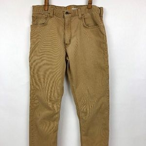 Men's Canvas CARHARTT BEIGE RELAXED FIT STRECTCH